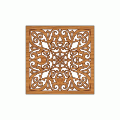 Laser Cut Pattern Design Cnc 295 Free DXF File
