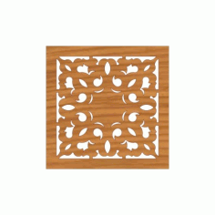 Laser Cut Pattern Design Cnc 198 Free DXF File