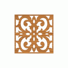 Laser Cut Pattern Design Cnc 167 Free DXF File