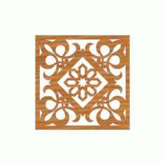 Laser Cut Pattern Design Cnc 163 Free DXF File