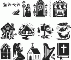 Classic Symbols For Print Or Laser Engraving Machines Free CDR Vectors Art