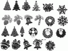 Decorations For Print Or Laser Engraving Machines Free CDR Vectors Art
