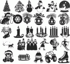Icons For Print Or Laser Engraving Machines Free CDR Vectors Art
