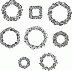 Wreath For Print Or Laser Engraving Machines Free CDR Vectors Art