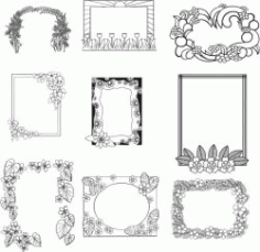 Frames For Engraving For Laser Engraving Machines Free CDR Vectors Art