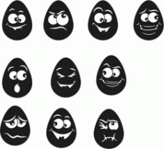 Funny Egg For Laser Engraving Machines Free CDR Vectors Art