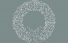 New wreath Free DXF File