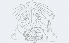 Nativity Free DXF File