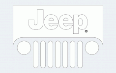 Jeep Word Free DXF File
