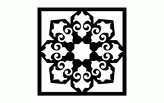 Islamic Pattern 5 Free DXF File