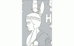Lady Helmet Free DXF File