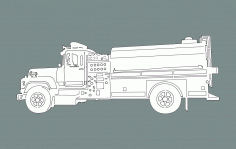 Fire Truck Free DXF File