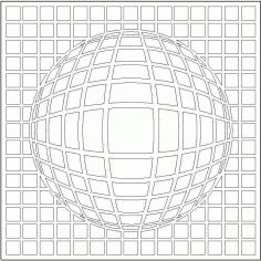 3D göbekli Kare Free DXF File