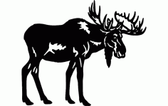 Bull Moose Silhouette Free DXF File