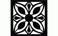 Floral Grille Pattern Free DXF File