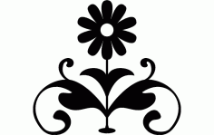 Flower 3 Free DXF File