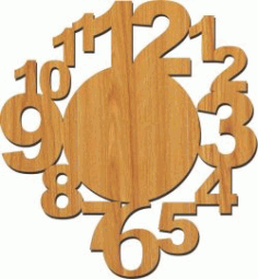 12 Number Wall Clock Download For Laser Cut Plasma Free DXF File