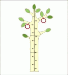 Apple Tree Height Measure Download For Laser Cut Cnc Free DXF File