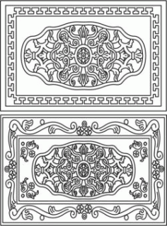 Celtic Decorative Frame Download For Laser Cut Cnc Free DXF File