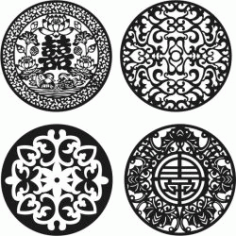 Chinese Pattern Decorative Circular Pattern Download For Laser Cut Cnc Free DXF File