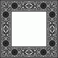 Classic Square Decorative Motifs Download For Laser Cut Cnc Free DXF File