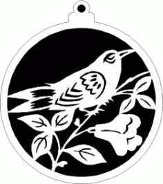 Decoration Ball With Ringlet Bird For Laser Cut Plasma Free DXF File