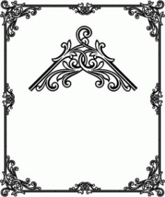 Decorative Frame Corner Download For Printers Or Laser Engraving Machines Free DXF File