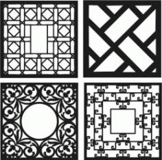 Design Template Square Decoration Download For Laser Cut Cnc Free DXF File