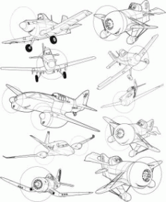 Disney Planes Download For Printers Or Laser Engraving Machines Free DXF File