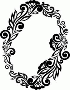 Floral Wreath Download For Printers Or Laser Engraving Machines Free DXF File