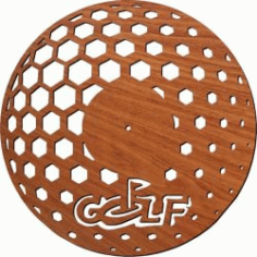Golf Clock Download For Laser Cut Plasma Free DXF File
