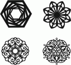 Mandala Silhouette Download For Laser Cut Plasma Free DXF File