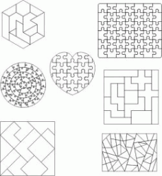 Pieces Assembled Into An Art Form Download For Laser Cut Plasma Free DXF File