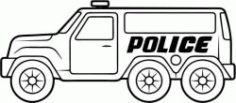 Police Cars Catch Criminals Free DXF File