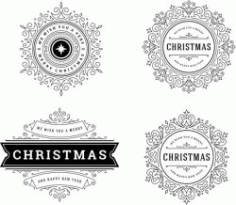 Snowflake Banner Template Download For Print Or Laser Engraving Machines Free DXF File