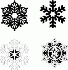 Snowflakes On A Pine Tree Download For Laser Free DXF File