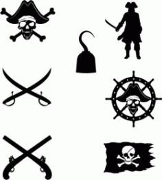 Symbol Of The Pirates In The Caribe Free DXF File