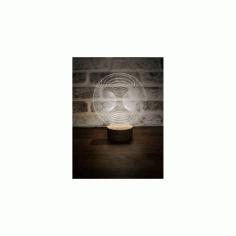 3d Illusion Led Lamp Free DXF File