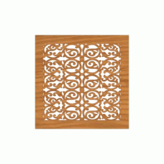 Decoration Screen Panel Design 370 Cnc Free DXF File