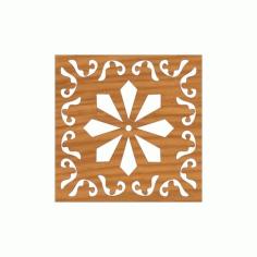 Decoration Screen Panel Design 395 Cnc Free DXF File