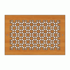Decoration Screen Panel Design 444 Cnc Free DXF File