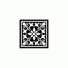 Decorative Square Ornament Tile Art Free DXF File
