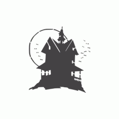 Haunted House Free DXF File