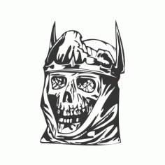 King Skull Free DXF File