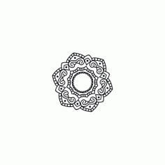 Mandala Design Art Free DXF File