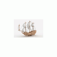 Pirate Ship 6mm Laser Cut Free DXF File
