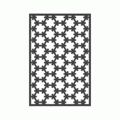 Seamless Hexagon Pattern Free DXF File