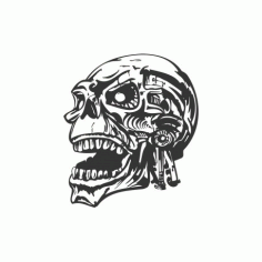 Skull Head Free DXF File