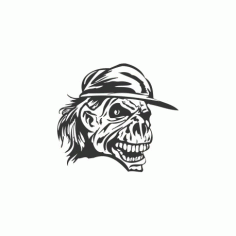 Skull With Cap Free DXF File