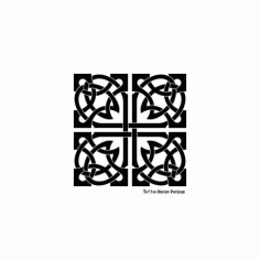 Square Ornament Free DXF File